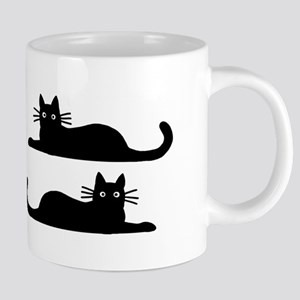 catsrectanglesticker Mugs