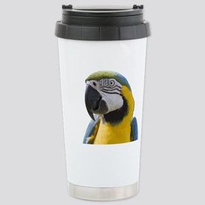 Blue and Yellow Macaw T Stainless Steel Travel Mug