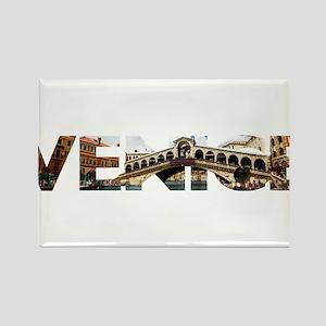 Venice Rialto canal typo Magnets
