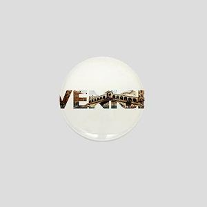 Venice Rialto canal typo Mini Button