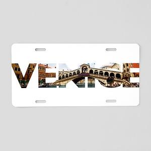Venice Rialto canal typo Aluminum License Plate