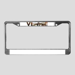 Venice Rialto canal typo License Plate Frame