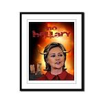 No Hellary Clinton Framed Panel Print
