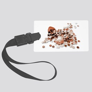 Piggy Bank Smashed and Vectorize Large Luggage Tag