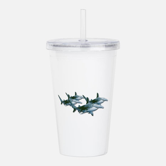 Shark Pack of hammerhe Acrylic Double-wall Tumbler