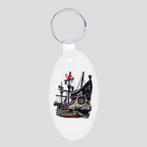 Pirate Ship Vector Art Keychains
