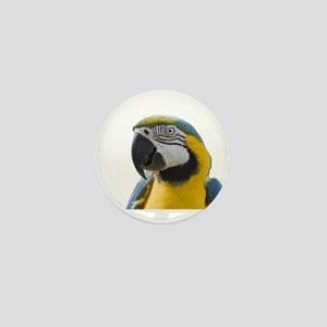 Blue and Yellow Macaw Thinking Mini Button