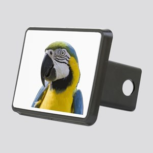 Blue and Yellow Macaw Thin Rectangular Hitch Cover