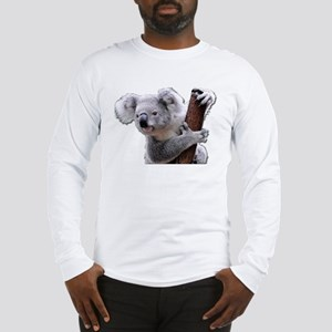 Koala Bear holding onto a tree Long Sleeve T-Shirt