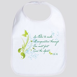 """CURE THE SPIRIT"" QUOTE Bib"