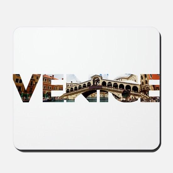 Venice Rialto canal typo Mousepad