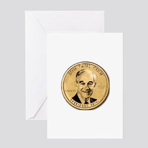 Ron Paul Coin Greeting Cards