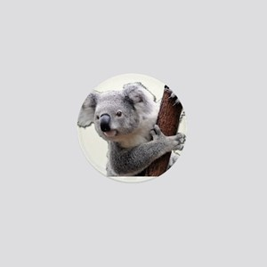 Koala Bear holding onto a tree Mini Button