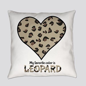 Favorite Color Is Leopard Everyday Pillow