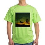AFTM Old Stallion At Sunrise Green T-Shirt