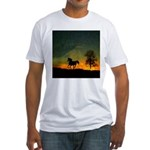 AFTM Old Stallion At Sunrise Fitted T-Shirt