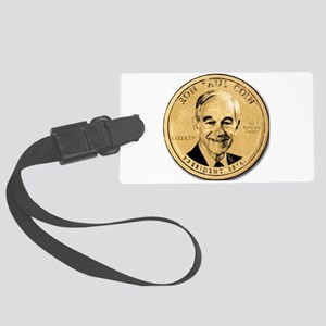Ron Paul Coin Large Luggage Tag