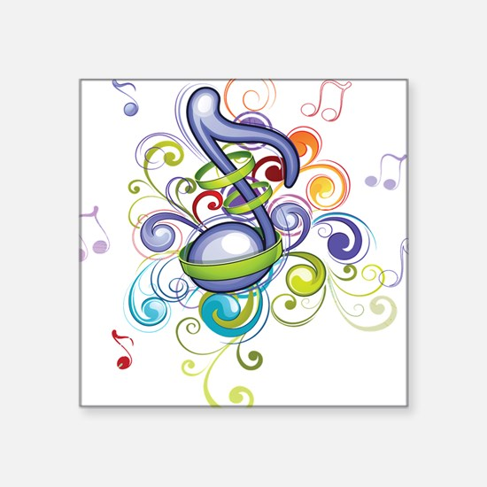 Music in the air Sticker