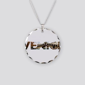 Venice Rialto canal typo Necklace Circle Charm