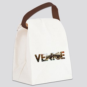 Venice Rialto canal typo Canvas Lunch Bag