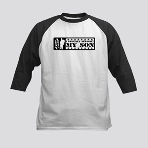 Proudly Support Son - ARMY Kids Baseball Jersey