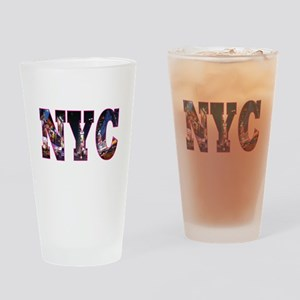 NYC New York blue Drinking Glass