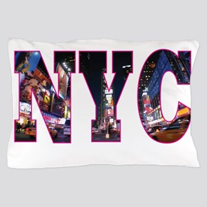 NYC New York blue Pillow Case