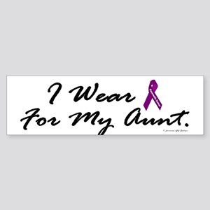 I Wear Purple 1 (Aunt PC) Bumper Sticker