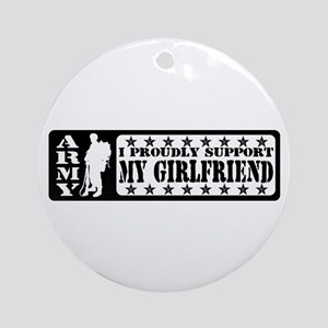 Proudly Support GF - ARMY Ornament (Round)