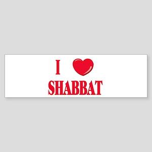 I Love Shabbat Bumper Sticker