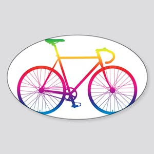 Road Bike - Rainbow Sticker
