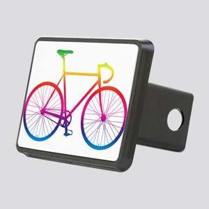 Road Bike - Rainbow Rectangular Hitch Cover