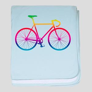 Road Bike - Rainbow baby blanket