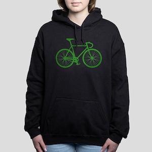Road Bike - Green Women's Hooded Sweatshirt