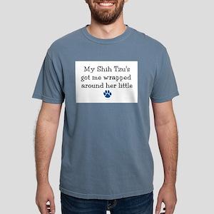 Wrapped Around Her Paw (Shih Tzu) T-Shirt
