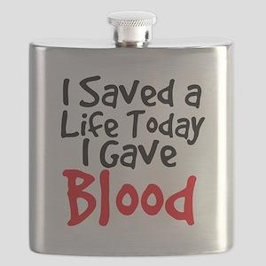 I saved a life today I gave Blood Flask