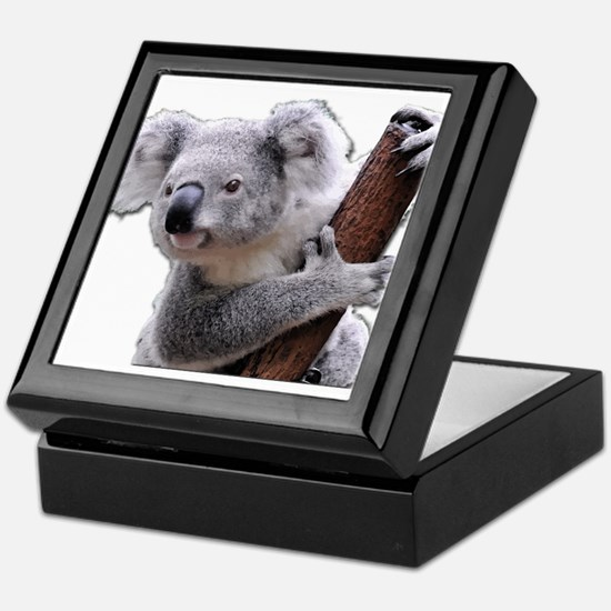 Koala Bear holding onto a tree Keepsake Box