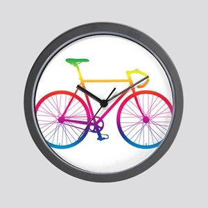 Road Bike - Rainbow Wall Clock