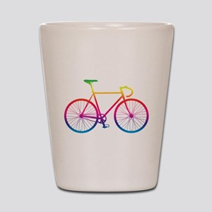 Road Bike - Rainbow Shot Glass