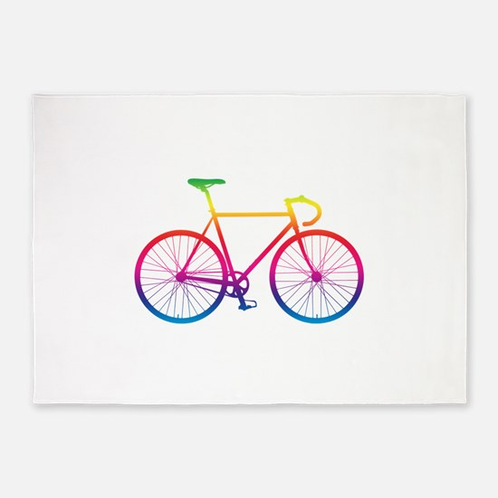 Road Bike - Rainbow 5'x7'Area Rug