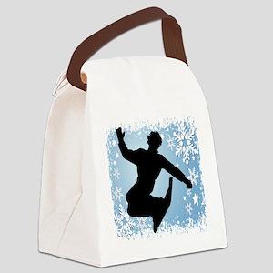 SNOWBOARDING (Blue) Canvas Lunch Bag
