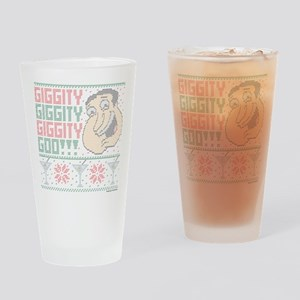 family guy quagmire ugly christmas Drinking Glass