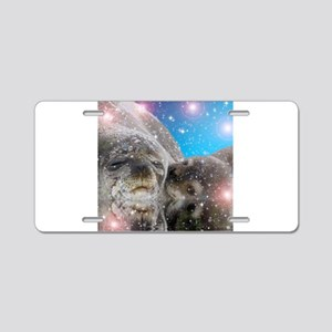 Mother and baby seal Aluminum License Plate