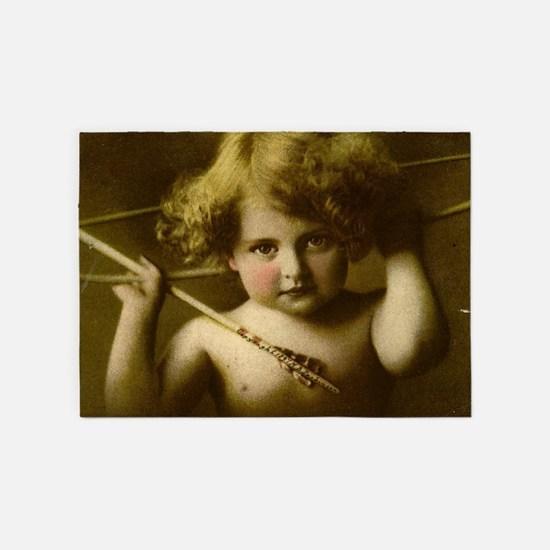 Cupid Awake 5'x7'Area Rug