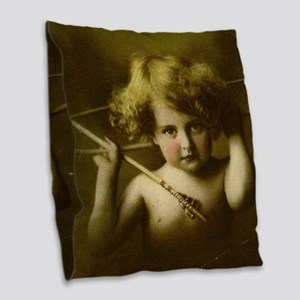 Cupid Awake Burlap Throw Pillow