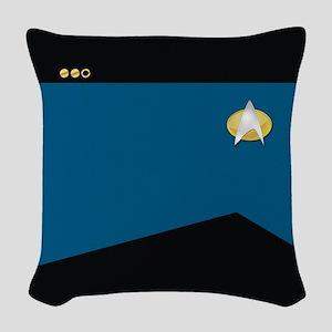 Star Trek: TNG Blue Lt. Comma Woven Throw Pillow