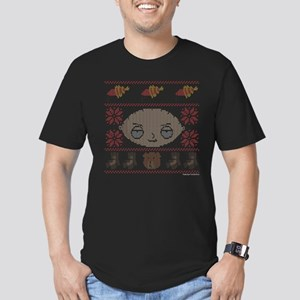 family guy stewie ugly Men's Fitted T-Shirt (dark)