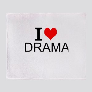 I Love Drama Throw Blanket