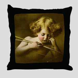 Cupid Asleep Throw Pillow