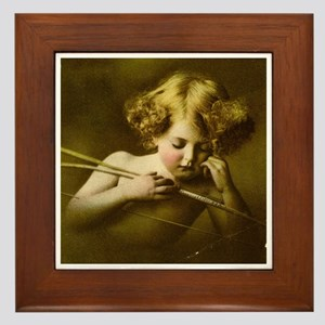 Cupid Asleep Framed Tile